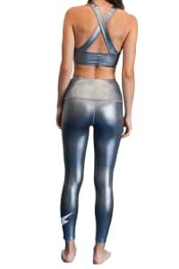 Limitless Shine Bolt 7/8 Legging - Silver - Back