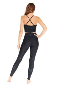 Panther High Rise Legging - Black - Back
