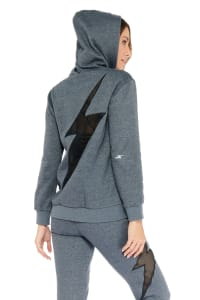 Free Spirit Bolt Hoodie - Heather Grey - Back