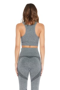 Cora High Impact Bra - Heather Grey - Back