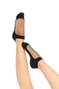 Mesh Crystal Socks - Black - Back