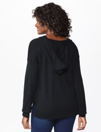 Roz & Ali Believe Hoodie Sweater - Misses - Black - Back