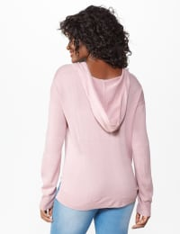 Roz & Ali Believe Hoodie Sweater - Misses - Dusty Pink - Back