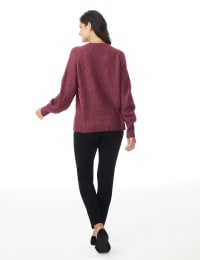 Westport Pointelle Sweater - Burgundy - Back