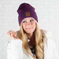 CC® Trendy Beanie - Dark Purple - Back