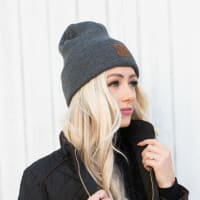 CC® Trendy Beanie - Dark Melange Grey - Back