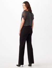 Roz & Ali Secret Agent Pull On Tummy Control Pants - Short Length - Black - Back