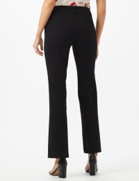 Roz & Ali  Secret Agent  Trouser With Cateye  Pocket  & Zipper - Black - Back