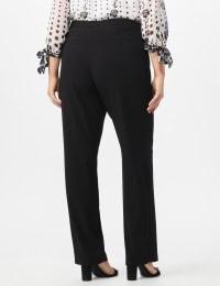 Plus Roz & Ali  Plus Secret Agent Trouser  Pants with Cat Eye Pockets & Zip - Back