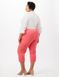 Pull-On Grommet Trim Crop Pants - Plus - Back