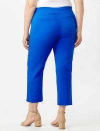 Plus - L-Pocket Pull-On Crop Pants - Back