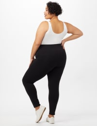Tummy Control Leggings - Plus - Black - Back