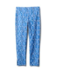 Printed  Superstretch Pull On Pants - Back
