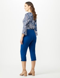 Pull On Crop Pants - Marine Blue - Back