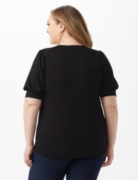 Puff Sleeve Knit Top - Back