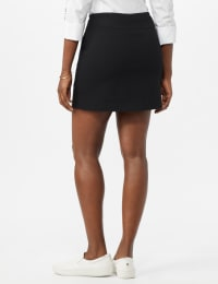 Zac & Rachel Pull On Solid Skort with Pockets - Back