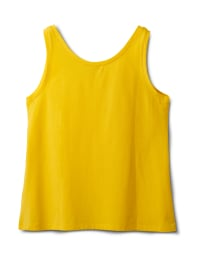 Studded Knit Tank - Plus - Gold - Back