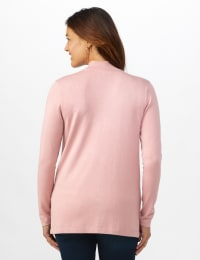Roz & Ali Scallop Trim Cardigan - Misses - Misty Rose - Back