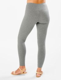 Tummy Control Legging - Heather Grey - Back