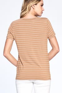 Essential Stripe Tee - Sand / Ivory - Back