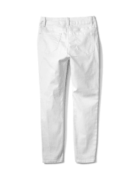 5 Pocket Skinny Ankle Jean - White - Back