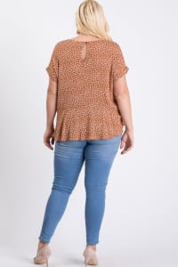 Flower-Printed Top - Rust / Cream - Back