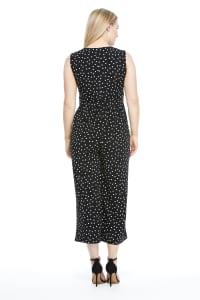 Annabelle Polka Dot Jumpsuit - Black/White - Back