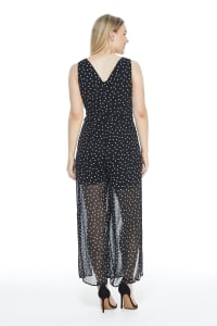 Veronica Jumpsuit - Black/White - Back