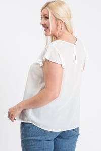 Everyday Look Short Sleeve Top - White - Back