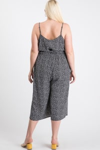 Welcome to Summer Floral Jumpsuit - Black - Back