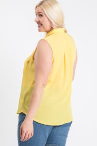 The Not So Classic Buttoned Top - Yellow - Back