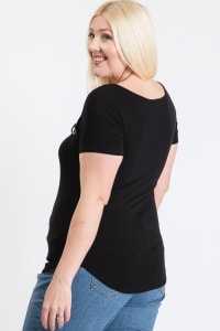 Your Everyday Rib Top - Black - Back