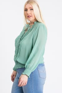 Cutie Smocking Top - Teal - Back