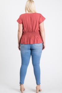 Loosen It Top - Mauve - Back