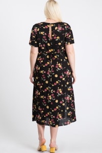 Sunkissed Floral Dress - Black - Back