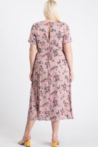 Sunkissed Floral Dress - Pink - Back