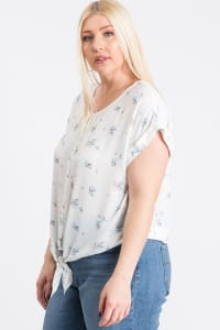 Off You Go Button-Down Tee - White - Back