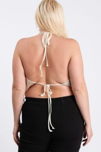 Party Animal Metallic Top - Ivory - Back