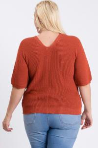 V-Neck Sweater - Back