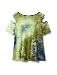 Denim Friendly  Tie Dye Cold Shoulder - Navy/Green - Back