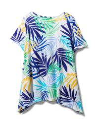 Palm Shark Bite Print tee - Multi - Back