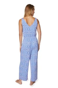 Caribbean Joe® Tie Waist Jumpsuit - light blue - Back