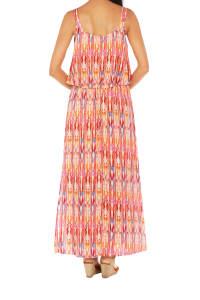 Caribbean Joe® Double Layer Maxi Dress - Bittersweet - Back