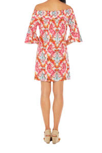 Caribbean Joe® UPF Sun Protection Off the Shoulder Dress - Very Berry - Back