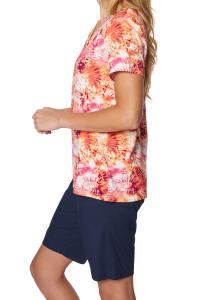 Caribbean Joe® Criss Cross Knit Top - Sundried - Back