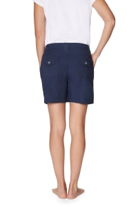 Caribbean Joe® Cotton Short - Navy - Back