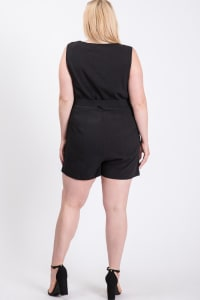 Sleeveless Little Romper - Black - Back