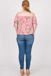 Delicate Floral Top - Pink - Back