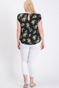 Lookin' Good Floral Top - Black - Back