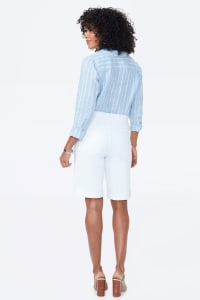 NYDJ Pull On Shorts with Rolled Cuff - Optic White - Back